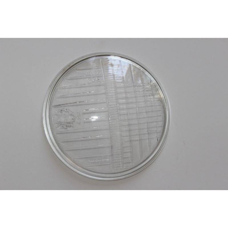 CRISTAL FARO DELANTERO 105mm de diámetro VESPA FARO BAJO 1ª serie (cristal 100% alta calidad)