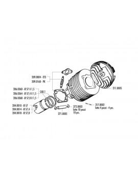 KIT CILINDRO 130cc MONO VESPA 125 PRIMAVERA  NK / PK / PKS / T3 / SL