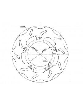 DISCO DE FRENO DELANTERO POLINI VESPA 125/150/200 PX-PE-LX-S-ET4 / LML STAR 2T-4T