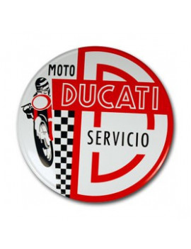 PLACA DECORATIVA DUCATI SERVICIO