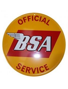 PLACA DECORATIVA OFFICIAL BSA SERVICE