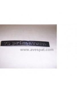 "ANAGRAMA VESPA 75 PRIMAVERA"" (Trasero)"""